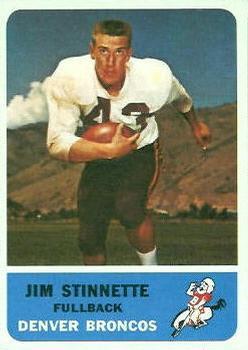 1962 Fleer #42 Jim Stinnette RC