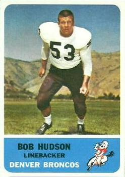 1962 Fleer #43 Bob Hudson RC