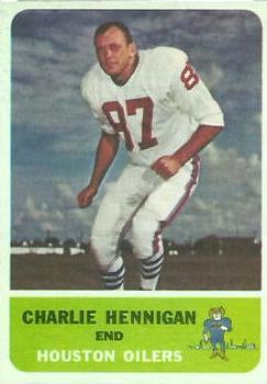 1962 Fleer #48 Charlie Hennigan RC