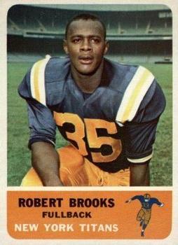 1962 Fleer #56 Robert Brooks RC