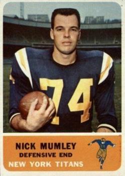 1962 Fleer #65 Nick Mumley RC
