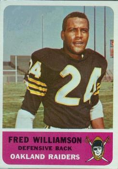 1962 Fleer #74 Fred Williamson RC