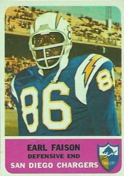 1962 Fleer #87 Earl Faison RC