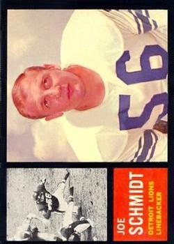 1962 Topps #59 Joe Schmidt