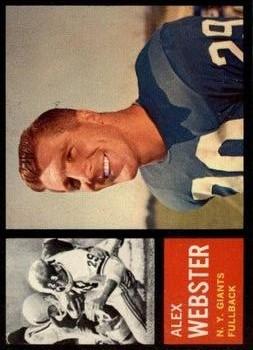 1962 Topps #105 Alex Webster