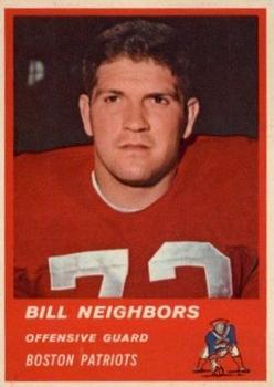 1963 Fleer #7 Billy Neighbors RC