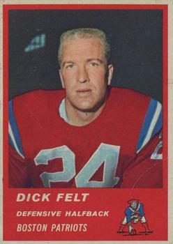 1963 Fleer #8 Dick Felt RC