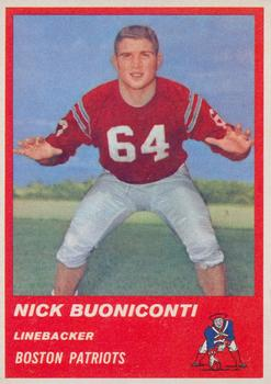 1963 Fleer #10 Nick Buoniconti RC