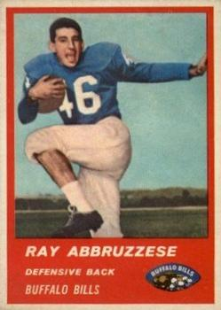 1963 Fleer #31 Ray Abruzzese RC UER/(name misspelled Abbruzzese)