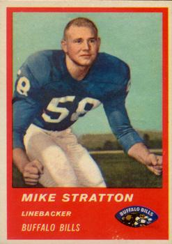 1963 Fleer #32 Mike Stratton RC
