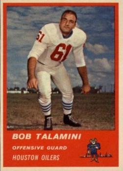 1963 Fleer #39 Bob Talamini RC