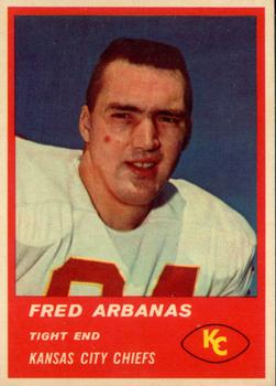 1963 Fleer #50 Fred Arbanas RC