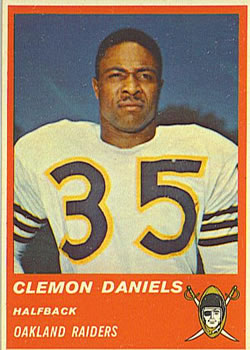 1963 Fleer #57 Clem Daniels RC