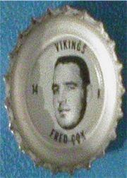 1964 Coke Caps Vikings #9 Fred Cox