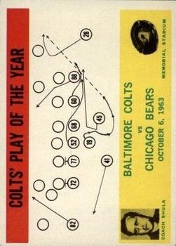 1964 Philadelphia #14 Colts Play/Don Shula