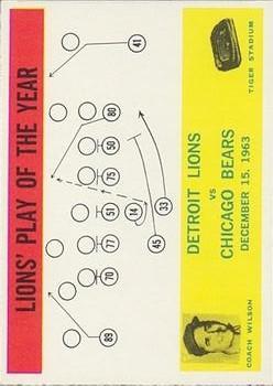 1964 Philadelphia #70 Detroit Lions