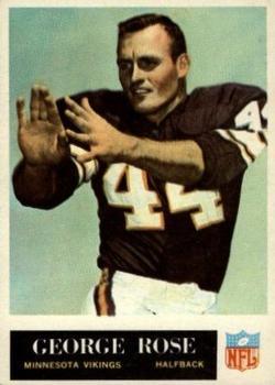 1965 Philadelphia #109 George Rose RC