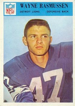 1966 Philadelphia #74 Wayne Rasmussen RC