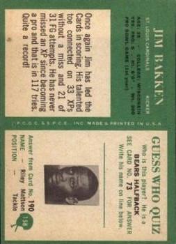 1966 Philadelphia #158 Jim Bakken back image