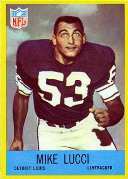 1967 Philadelphia #67 Mike Lucci RC