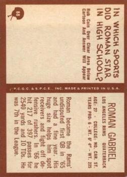 1967 Philadelphia #88 Roman Gabriel back image