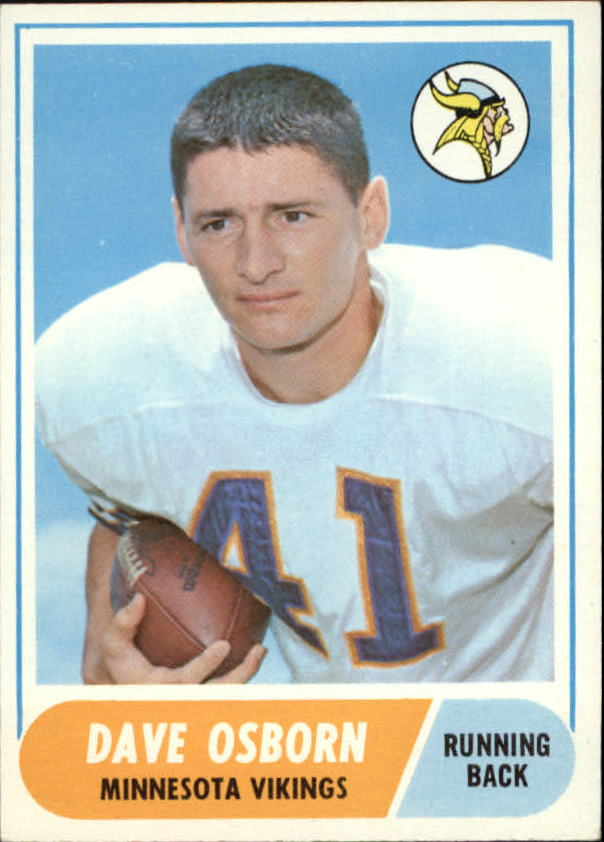 1968 Topps #29 Dave Osborn RC
