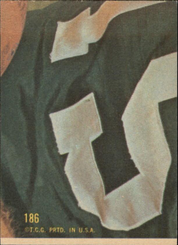 1968 Topps #186 Billy Kilmer back image