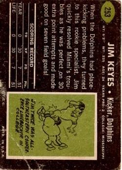 1969 Topps #253 Jim Keyes RC back image