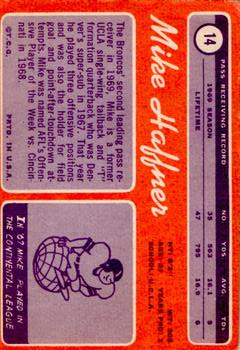 1970 Topps #14 Mike Haffner RC back image