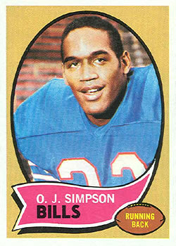 1970 Topps #90 O.J. Simpson RC