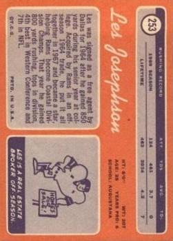 1970 Topps #253 Les Josephson back image