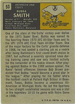 1971 Topps #53 Bubba Smith back image