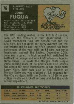 1971 Topps #76 John Fuqua RC back image