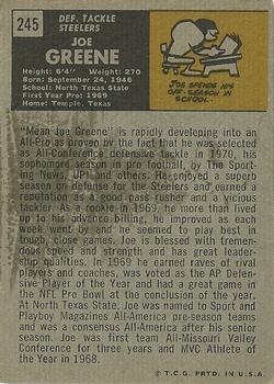 1971 Topps #245 Joe Greene RC back image