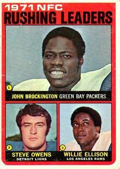 1972 Topps #2 NFC Rushing Leaders/John Brockington/Steve Owens/Willie Ellison
