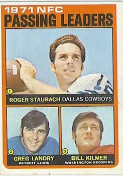 1972 Topps #4 NFC Passing Leaders/Roger Staubach/Greg Landry/Bill Kilmer