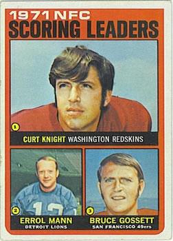 1972 Topps #8 NFC Scoring Leaders/Curt Knight/Errol Mann/Bruce Gossett
