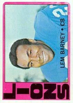 1972 Topps #42 Lem Barney