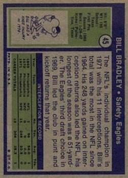 1972 Topps #45 Bill Bradley RC back image