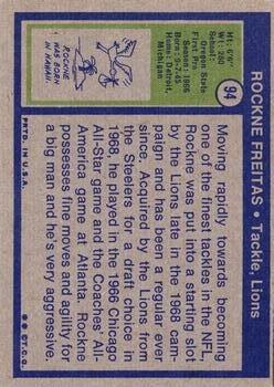 1972 Topps #94 Rockne Freitas back image