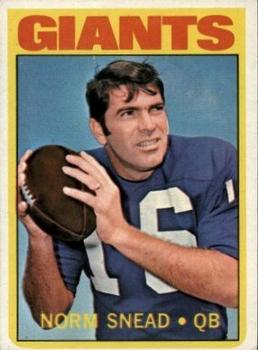 1972 Topps #118 Norm Snead