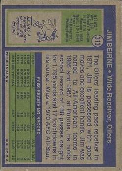 1972 Topps #313 Jim Beirne back image