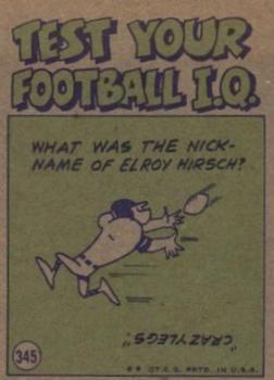 1972 Topps #345 Doug Cunningham IA back image