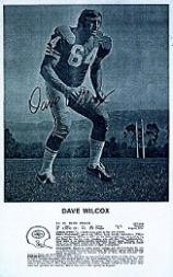 1972 49ers Postcards #1 Dave Wilcox