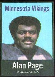 1972 NFLPA Fabric Cards #28 Alan Page
