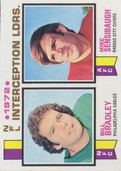 1973 Topps #5 Interception Leaders/Bill Bradley/Mike Sensibaugh