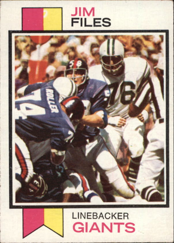 1973 Topps #49 Jim Files RC
