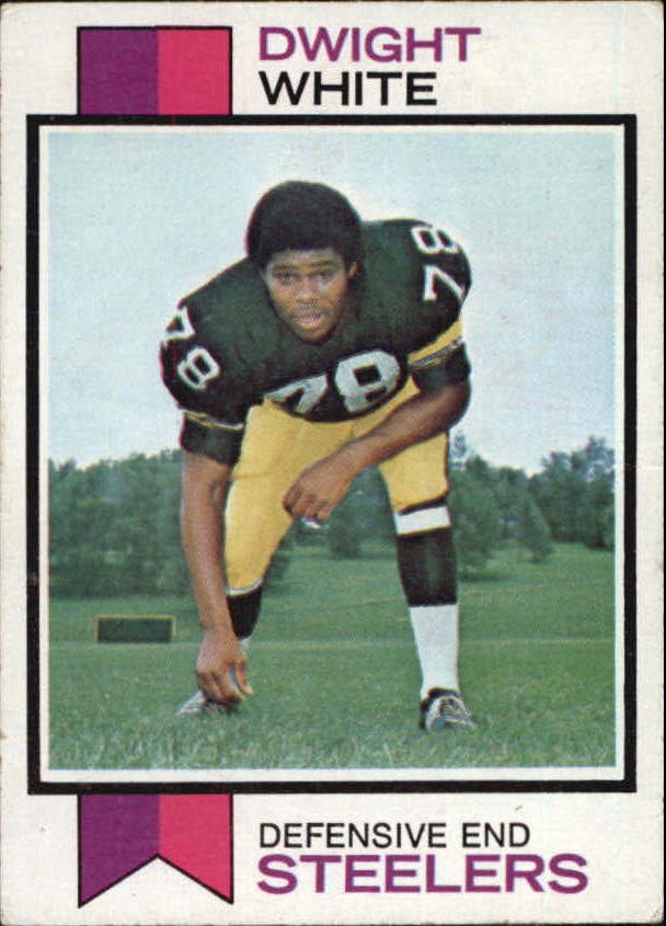 1973 Topps #140 Dwight White RC UER/(College North Texas/State, should be/East Texas State)