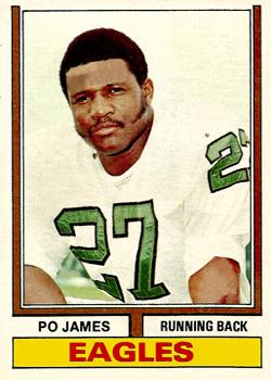 1974 Topps #47 Po James RC