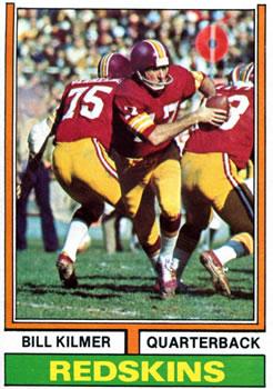 1974 Topps #58 Billy Kilmer